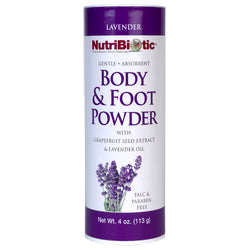 NutriBiotic Body & Foot Powder, Lavender