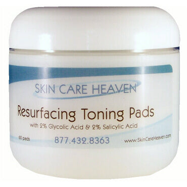Skin Care Heaven Resurfacing Toning Pads with 2% Glycolic + Salicylic Acid
