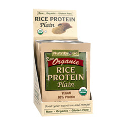 NutriBiotic Organic Rice Protein, Plain .53 oz. 12 Pack