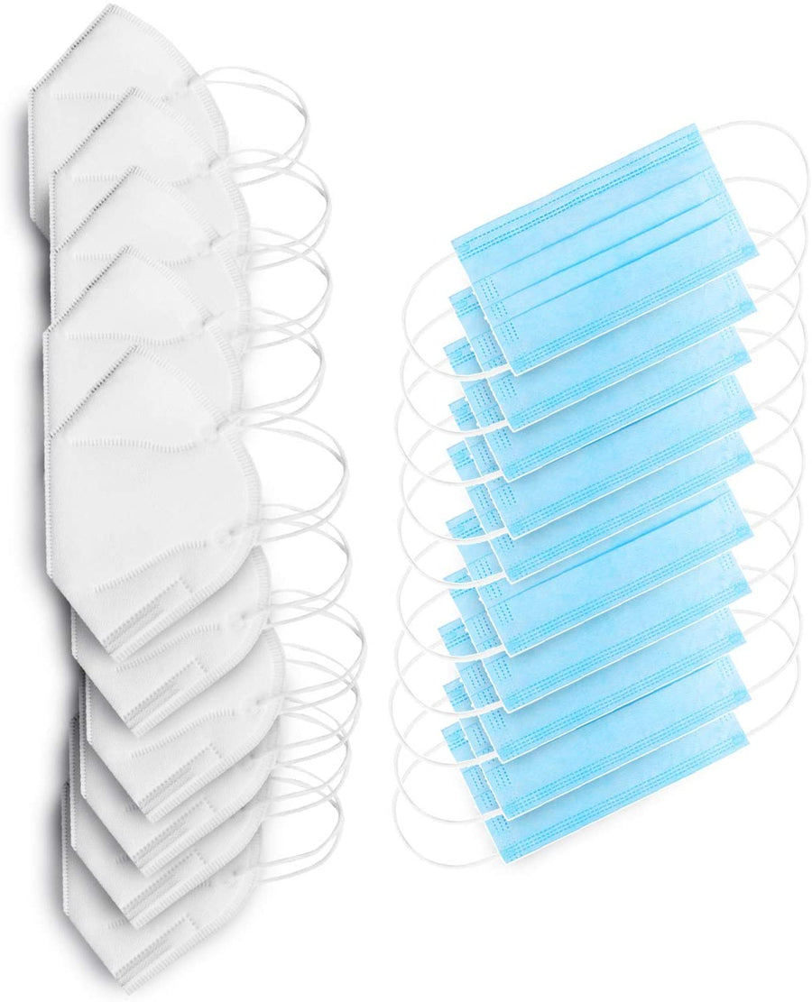 Earloop Disposable Mask Bundle - 5 ply & 3 Ply - 50 of Each