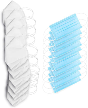 Earloop Disposable Mask Bundle - 5 ply & 3 Ply - 10 of Each