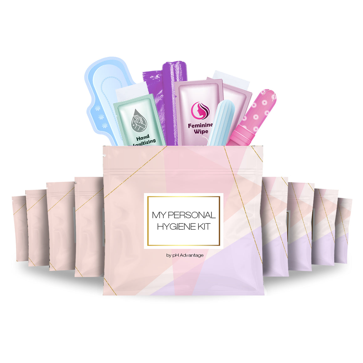 Feminine Hygiene Kit Rose Pack of 10