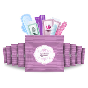 Feminine Hygiene Kit Purple Pack of 10