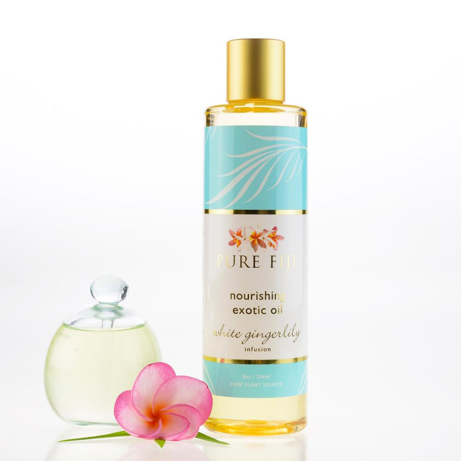 Pure Fiji Exotic Bath & Body Oil - White Gingerlily