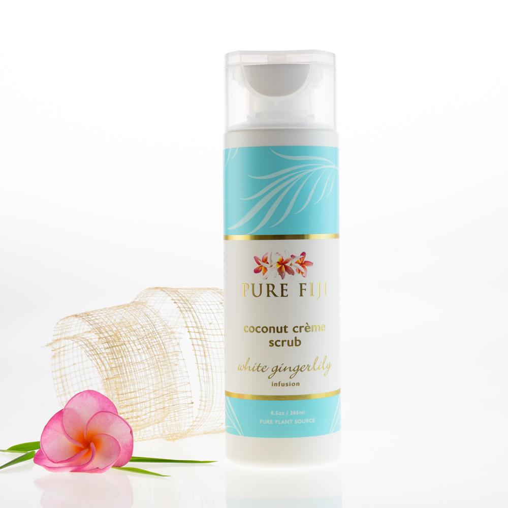 Pure Fiji Coconut Creme Body Scrub - White Gingerlily