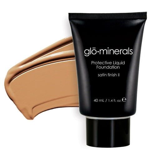 Glo-Minerals Protective Liquid Foundation Satin II - Golden Dark