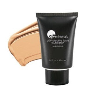 Glo-Minerals Protective Liquid Foundation Satin II - Golden Light
