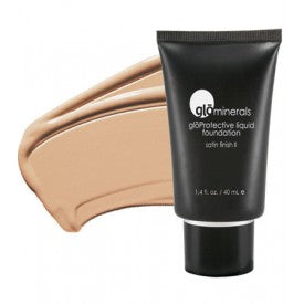 Glo-Minerals Protective Liquid Foundation Satin II - Honey Fair
