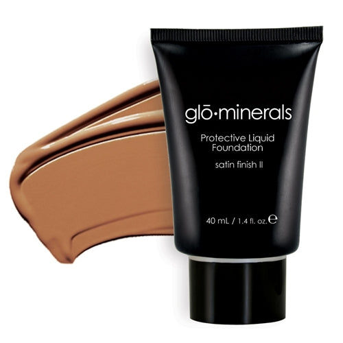 Glo-Minerals Protective Liquid Foundation Satin II - Honey