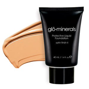Glo-Minerals Protective Liquid Foundation Satin II - Natural