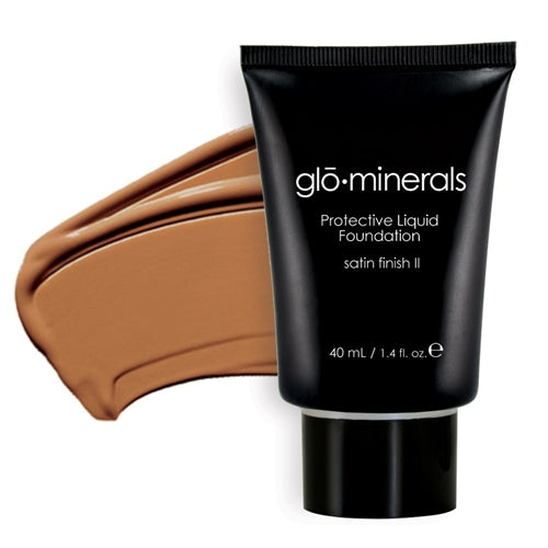 Glo-Minerals Protective Liquid Foundation Satin II - Beige Medium