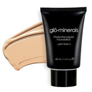 Glo-Minerals Protective Liquid Foundation Satin II - Natural Fair