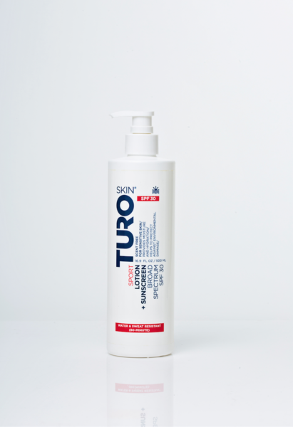 TURO SKIN Sport Lotion + Sunscreen Broad Spectrum SPF 30 (Pump)