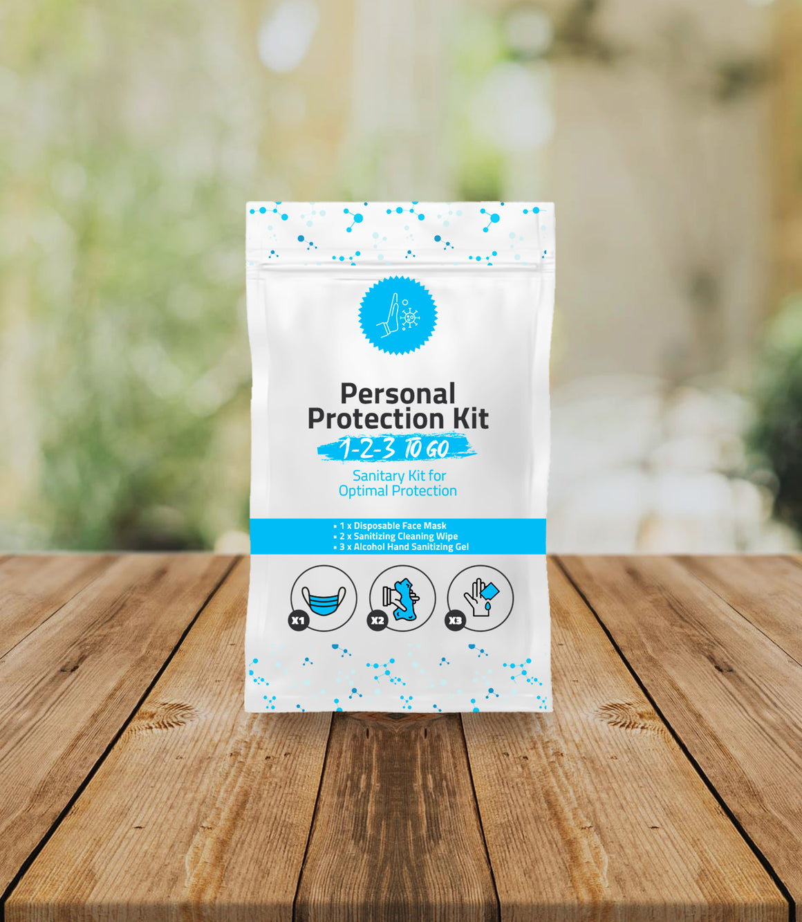 1-2-3 All-In-One Personal Protection Kits TO GO – Sanitary Kits for Optimal Protection
