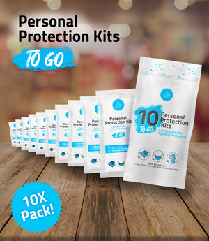 (10) All-In-One Personal Protection Kits TO GO – Sanitary Kits for Optimal Protection