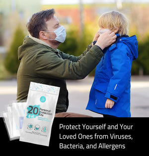 (20) All-In-One Personal Protection Kits TO GO – Sanitary Kit for Optimal Protection.