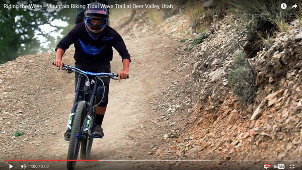 Mountain Biking Tidal Wave Trail at Deer Valley