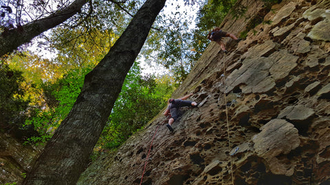rock climbing the shire in the red river gorge