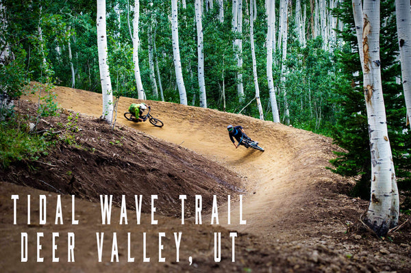 Tidal wave gravity logic downhill trail at deer valley in park city utah