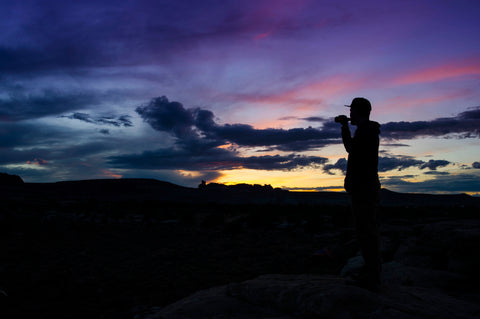 cold beer and desert sunsets in moab utah