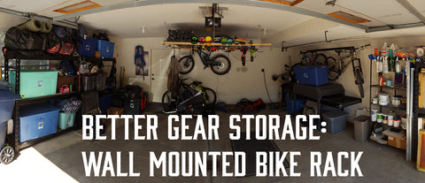 DIY Wall mounted mountain bike rack and garage storage