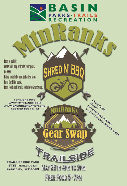 Gear Swap Shred N' BBQ mountain bike event park city utah
