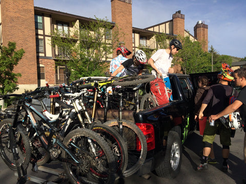 shuttling mountain bikes park city utah