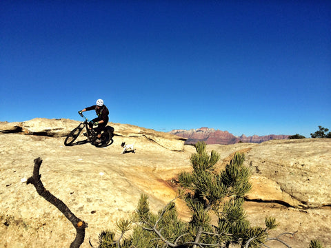 ross downard lily shred mountain biking in utah gooseberry desert