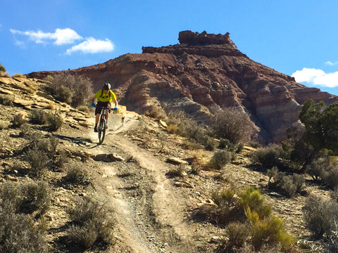 shredding downhill mountain bike gooseberry utah