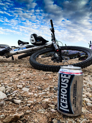 poc helmet enduro mountain bike icehouse beer gooseberry utah