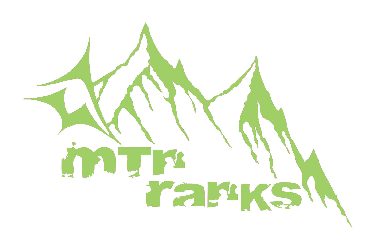 Mountain range die cut sticker