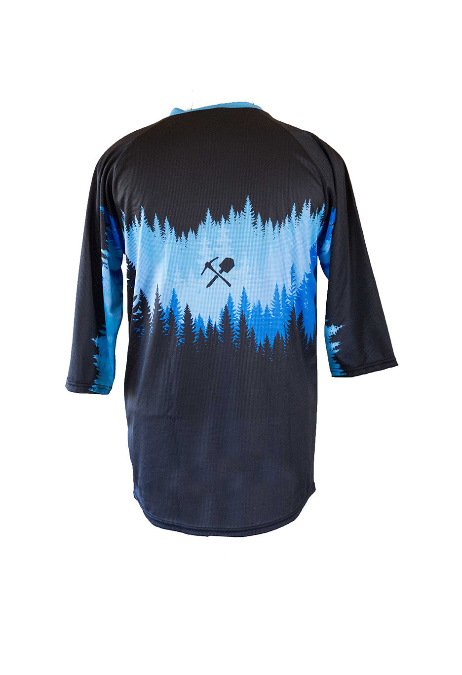 MtnRanks Tree Line 3/4 sleeve downhill enduro mtb mountain bike jersey back