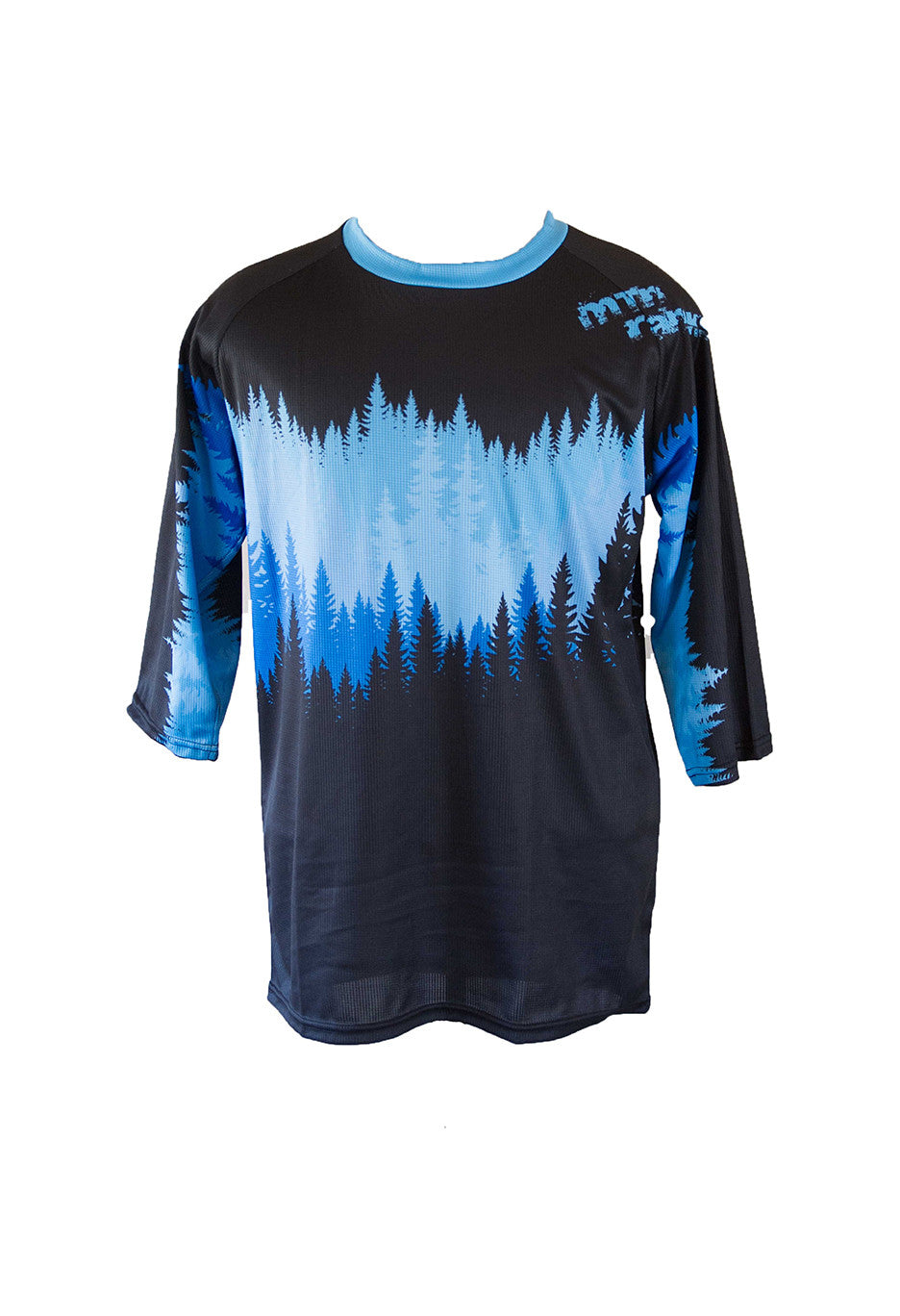 MtnRanks Tree Line 3/4 sleeve downhill enduro mtb mountain bike jersey front