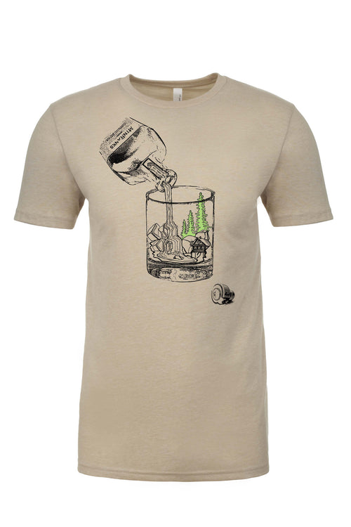 Whiskey Bourbon mountain life shirt