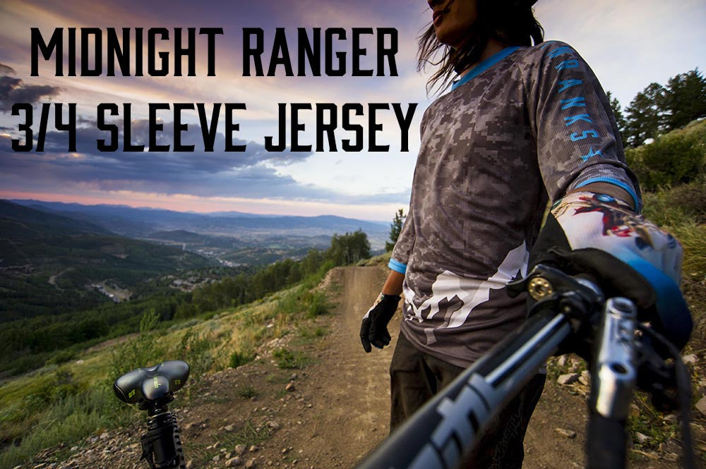midnight ranger 3/4 sleeve mtb jersey