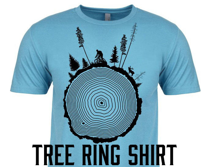 tree ring mountain bike t-shirt