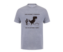 Load image into Gallery viewer, The Internet Is Broken Dinosaur T-shirt