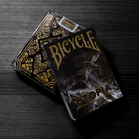 Bicycle Utopia Playing Cards (Black Gold)