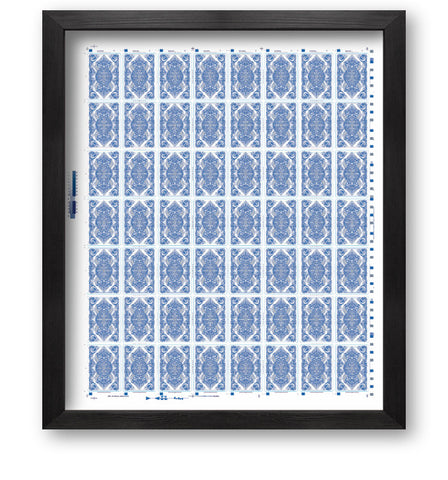 Bicycle Asura Uncut Sheet (Metallic blue)