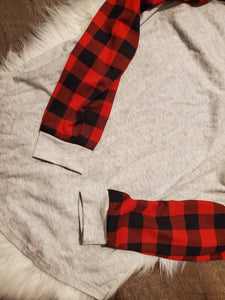 Red plaid long sleeve