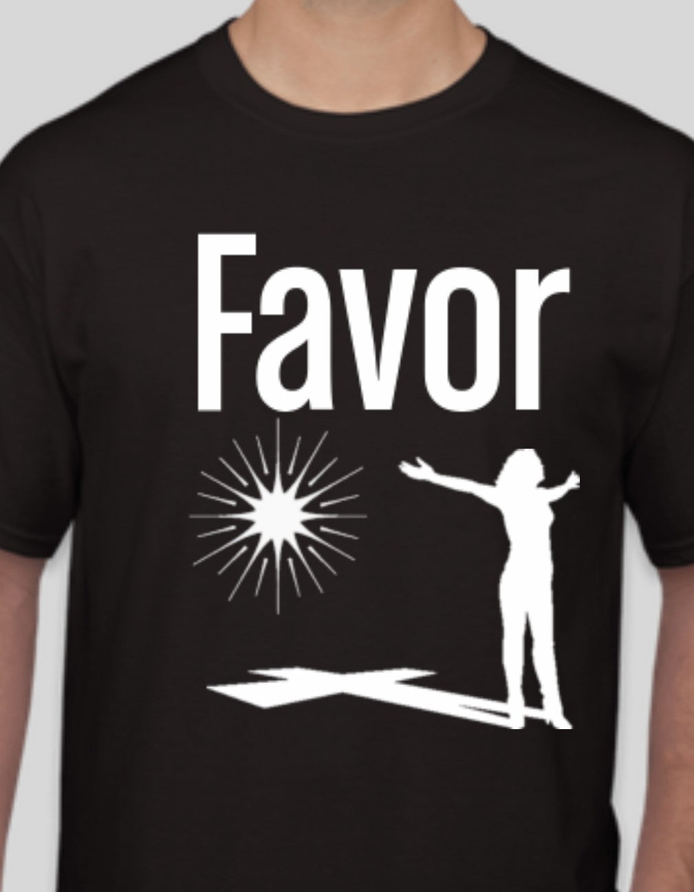 Women's Favor Black T-shirt