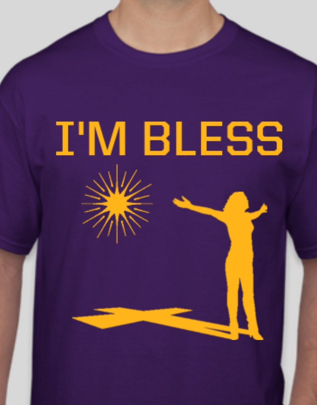 Women's I'm Bless Purple and Gold T-shirt