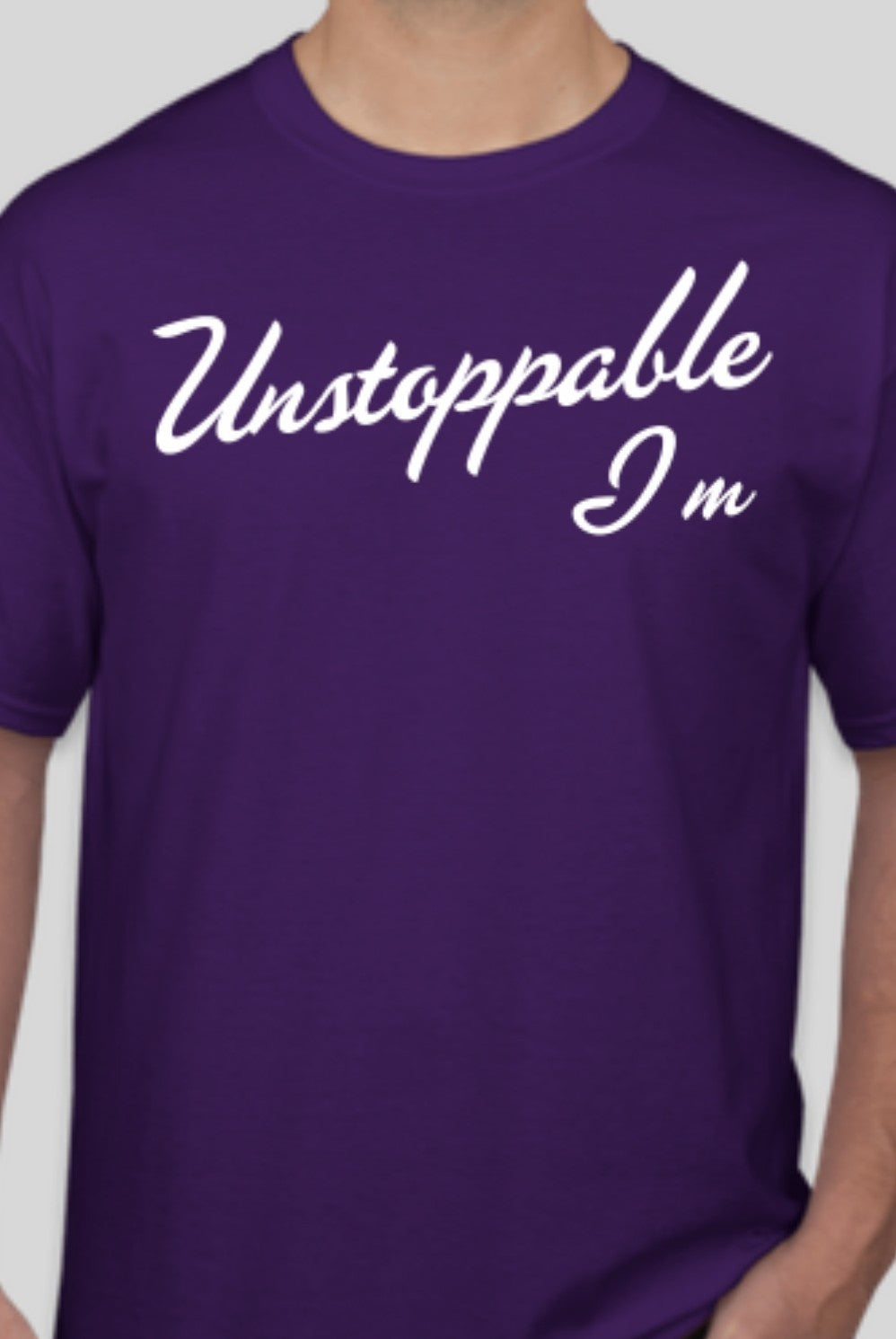 I am Unstoppable Purple T-shirt