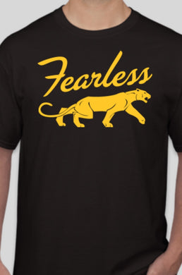 Fearless Black and Gold T-shirt