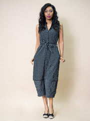 Amma Contrast Plaid Jumpsuit
