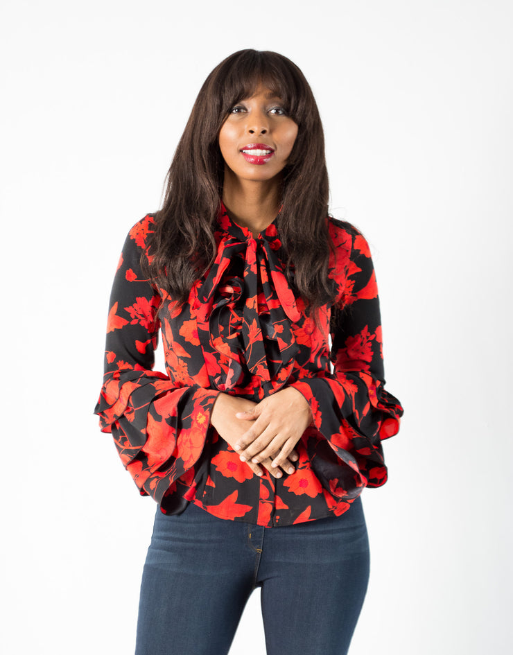 Gracia Flower Print Blouse