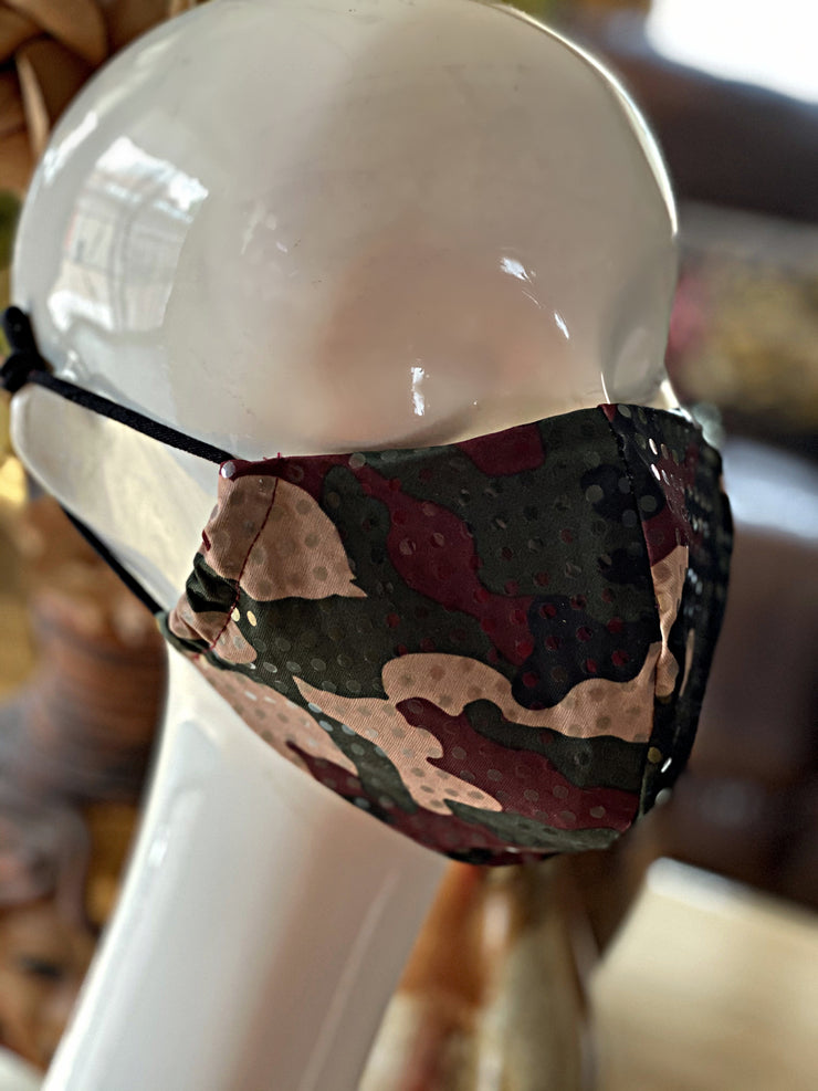 Joy Sequin Camouflage Mask