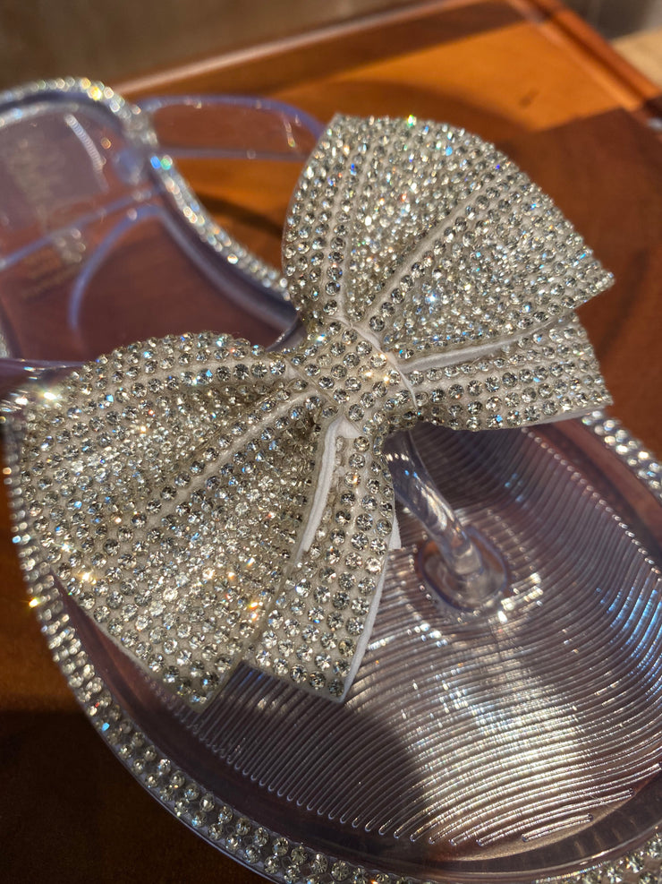 Blingy Bow Jelly Sandal