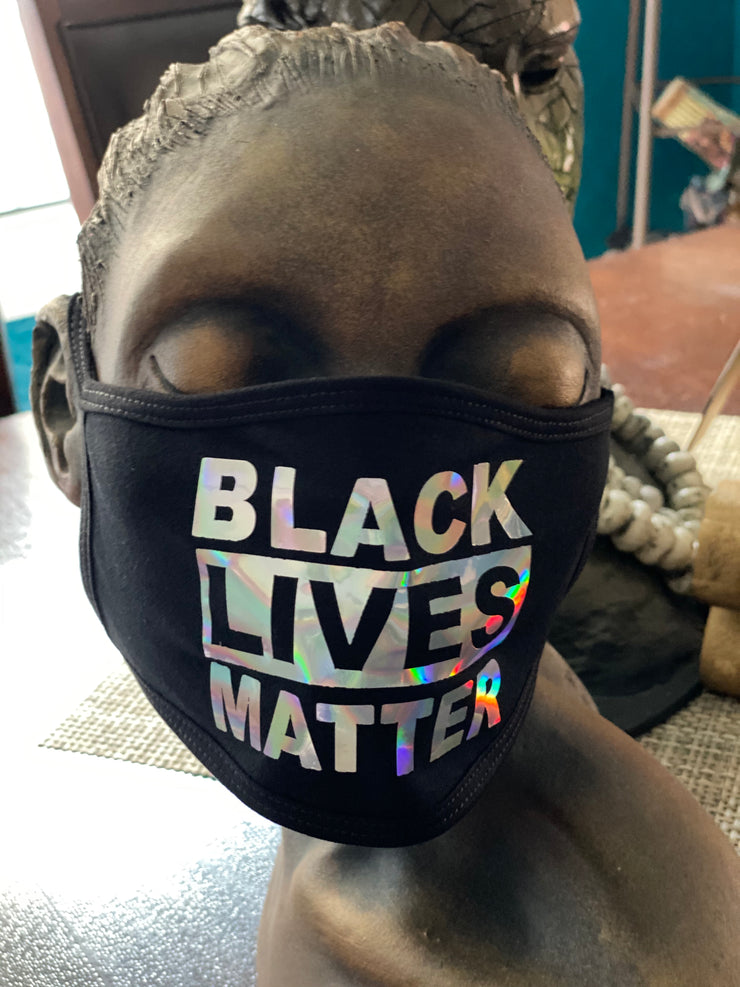 Just Us Black Lives Matter Foil Mask