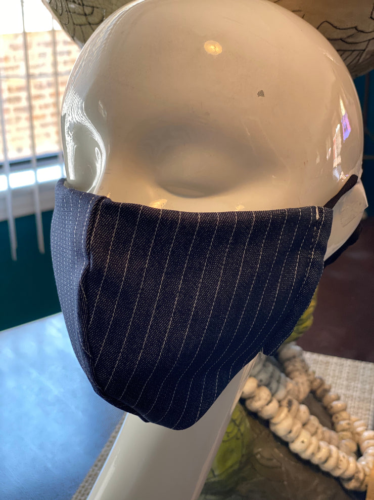 Joy Denim Pinstripe Mask